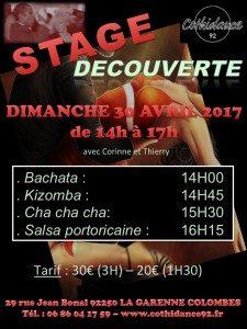 Stage découverte Bachata, Kizomba, Cha cha cha, Salsa portoricaine