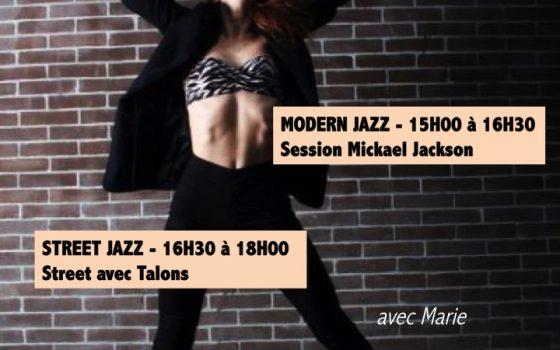 Samedi 8 décembre Stage de Modern Jazz et Street Jazz