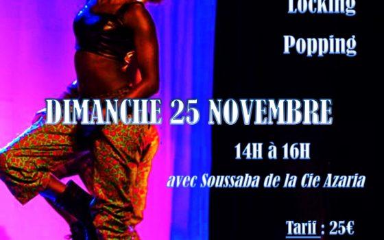 Dimanche 25 novembre Stage de Hip Hop