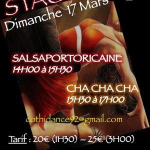 Dimanche 17 mars Stage de Salsa portoricaine et de Cha Cha Cha