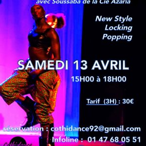 Samedi 13 avril Stage de Hip Hop