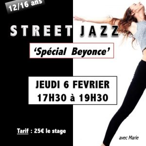 Jeudi 6 février Stage de Street Jazz «Spécial Beyoncé»